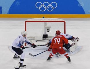 Olympics: Ice Hockey-Men Team Group B - RUS-USA