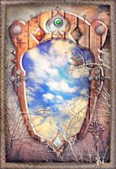 Deurstickers Imagination Finestra incantata sui sogni