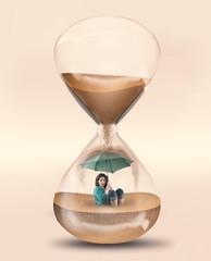 Time pressure hourglass
