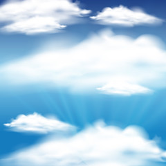 Sky background with blue sky and clouds