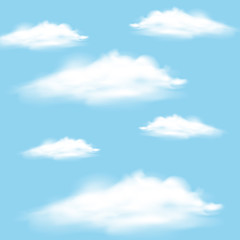 Sky background with clouds floating