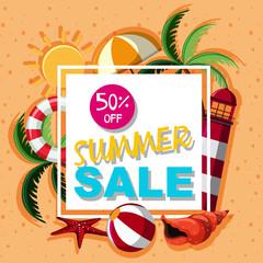 Poster design for summer sale