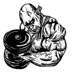Orc bodybuilder