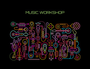 Music Workshop vector illustration