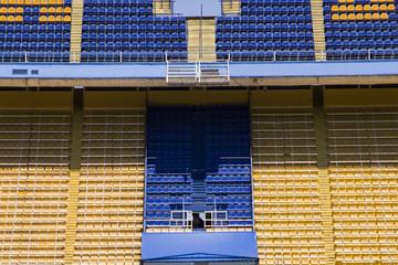 Detail of the football stadium