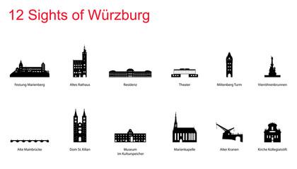 12 Sights of  Würzburg