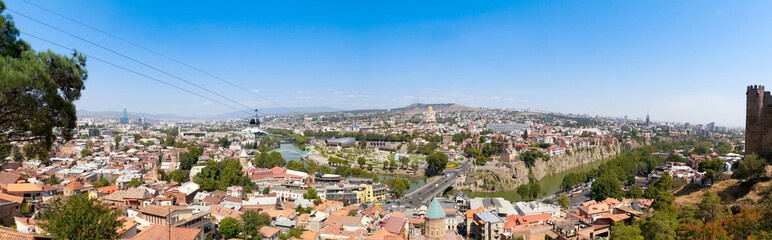 Panorama of the center of Tbilisi. Georgia.