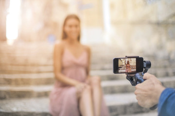 Taking pictures with a smartphone
