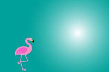 Background with pink flamingo