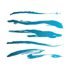 Blue abstract grunge curly brushes. Spring sea collection.