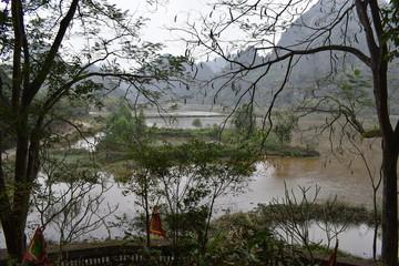 Wonderful landscape in Hoa Lu near Ninh Binh in Vietnam, Asia
