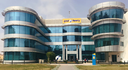 """The headquarters of Fawry Company """"Online Payment Portal"""" are pictured in Cairo"""