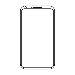 Simple mobile phone icon