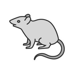 Mouse, rat color icon