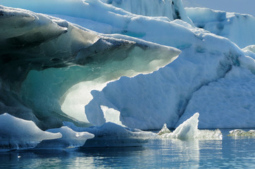 Iceberg on Jökulsárlón lagoon