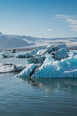 Icebergs at Jökulsárlón, Iceland