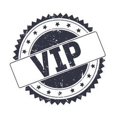 Vip Black grunge stamp isolated