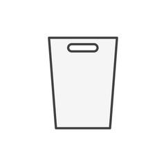 Illustration of trash bin icon