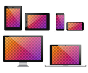 Vector devices with blank transparent screen