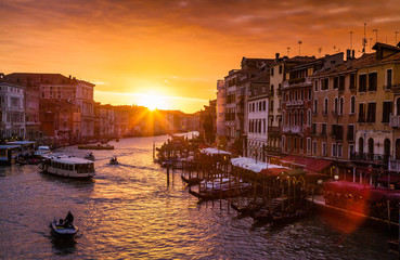 Canal Grande at sunset, Venice, Italy