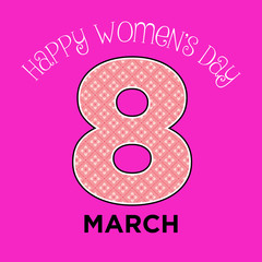 Vector women's day abstract minimal greeting decoration card or poster