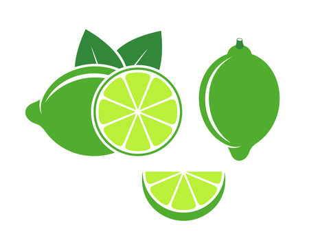 Lime logo. Isolated lime on white background