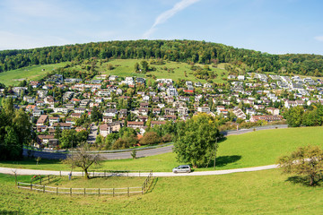 Rural landscape of Ennetbaden (Switzerland)
