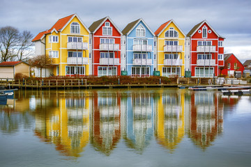 Colourful houses in Greifswald (Germany)