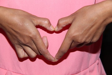 sign of the hand gesture.