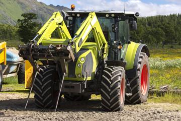 big tractor in andenes to the Lofoten in Norway