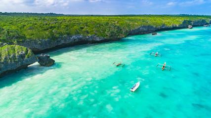 Foto op Textielframe Zanzibar Aerial. Seascape, Zanzibar, Tanzania.