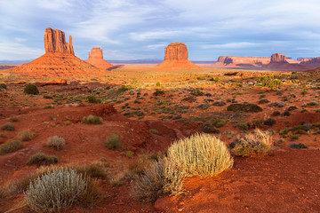 Sunset view at Monument Valley, Navajo Nation, USA