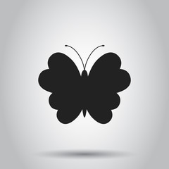 Butterfly icon. Vector illustration on isolated background. Business concept silhouette of a butterfly pictogram.