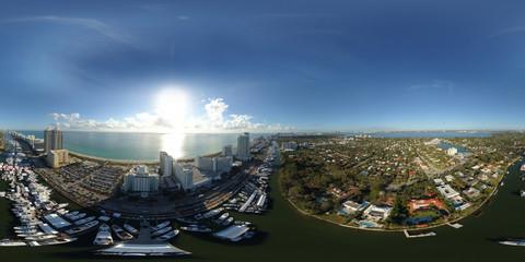Spherical 360 panorama Miami Beach International Boat SHow 2018