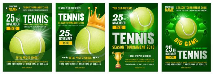 Tennis Poster Set
