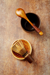 Traditional bamboo tea whisk