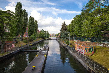 a berlin water channel and the spree river