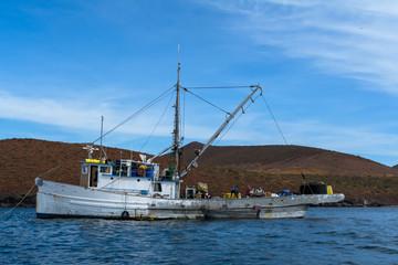 Un barco de pesca en el Mar de Cortez.