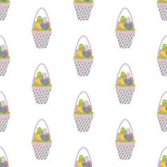Easter basket seamless pattern