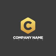 C letter logo template modern