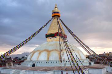 Boudhanath, Boudnath, Boudha Stupa in Kathmandu valley, Nepal