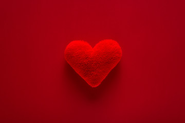 Beautiful red and  heart for valentine day