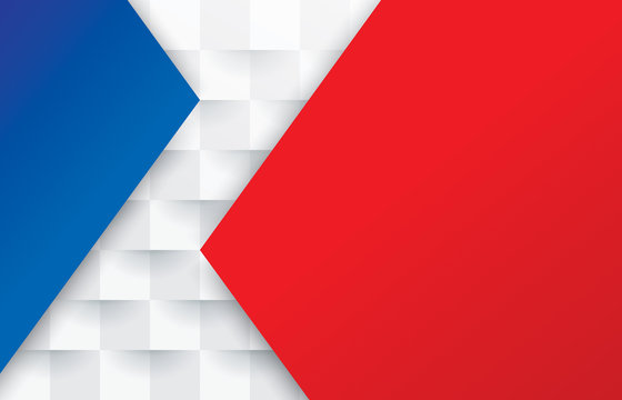 Red white and blue abstract background vector with blank space for text.