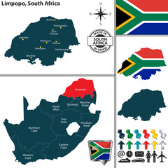 Map of Limpopo, South Africa