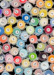 Paint containers for painting by numbers