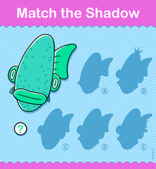 Match The Shadow Ocean kids puzzle game
