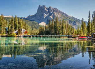 Emerald Lake in Autumn Yoho National Park  Wall mural