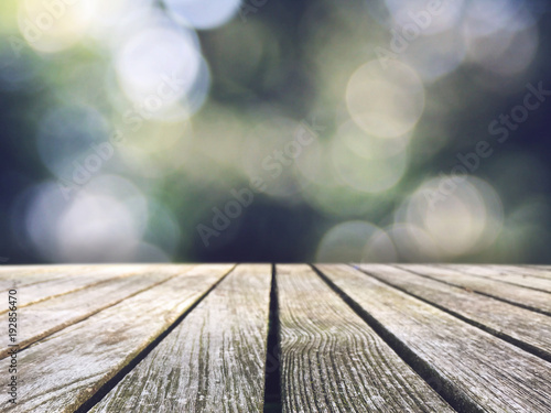 Rustic Wood Picnic Table Top Texture Over Cool Nature ...