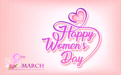 A heart for the women's day