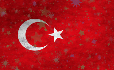 Illustration of a Turkish flag